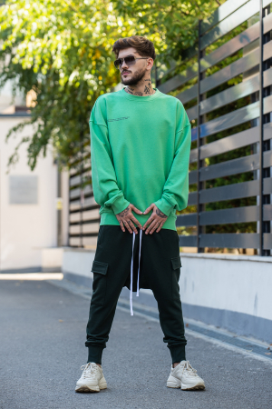 Bluza Oversized verde [2]