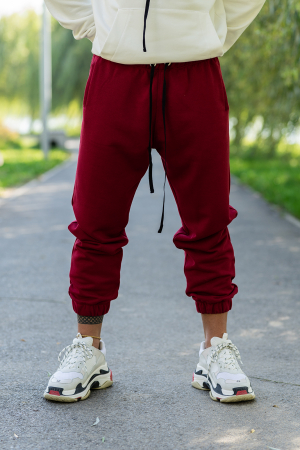 Pantalon lejer bordeaux [0]