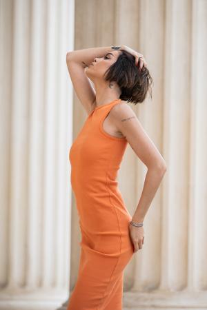 Rochie Hera Stramta Orange [2]