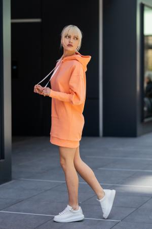 Rochie So Kate din Bumbac cu Gluga Papaya [2]