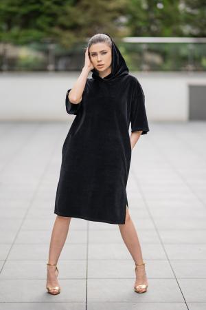 Rochie Catifea Velvet Wind Black [1]