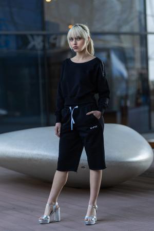 Set Undone Bluza si Pantalon Scurt Black [1]