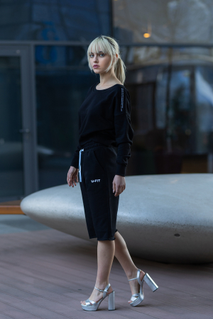 Set Undone Bluza si Pantalon Scurt Black [0]