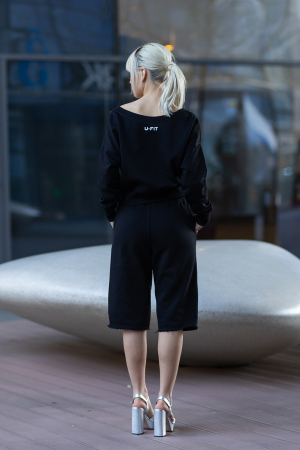 Set Undone Bluza si Pantalon Scurt Black [4]