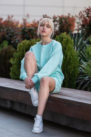 Set Elise Bluza si Pantalon Scurt Mint [6]