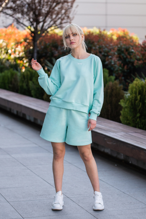 Set Elise Bluza si Pantalon Scurt Mint [1]