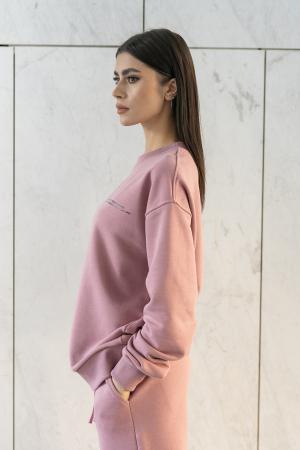 Set bluza si pantalon Oversized Easy-Fit Rose Quartz [2]