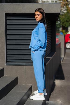 Set Easy-Fit bluza si pantalon Oversized  Aqua Blue [2]