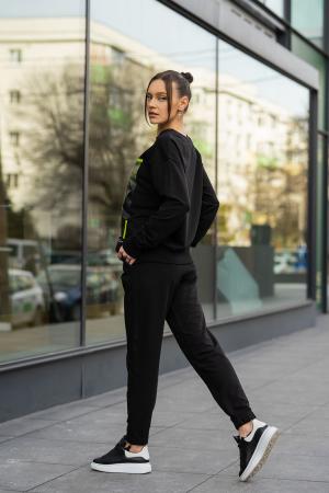 Set Easy-Fit bluza imprimata si pantalon Oversized Black [7]