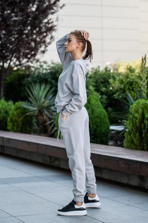 Set Easy-Fit bluza oversized si pantalon Grey [1]