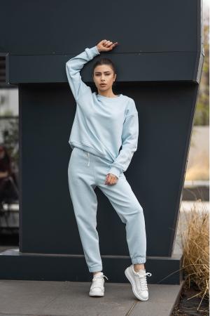 Set bluza si pantalon Oversized Easy-Fit Sky Blue [2]