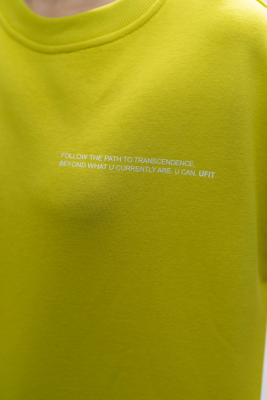 Set Easy-Fit bluza si pantalon Oversized Lime Green [3]