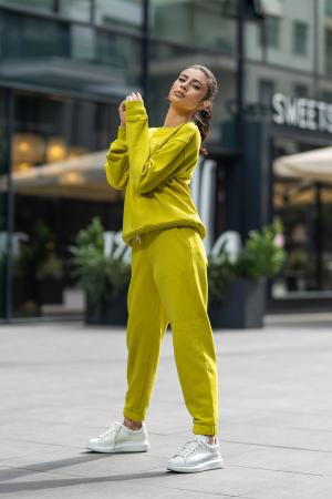 Set Easy-Fit bluza si pantalon Oversized Lime Green [2]