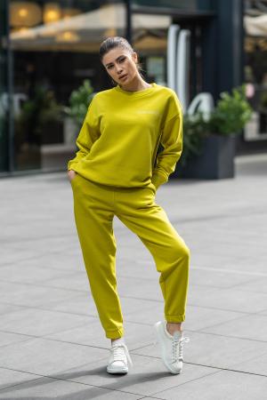 Set Easy-Fit bluza si pantalon Oversized Lime Green [0]