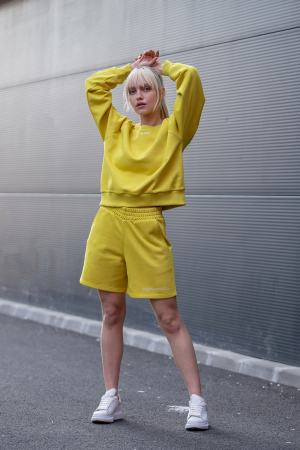 Set Elise Bluza si Pantalon Scurt Lime Green [2]