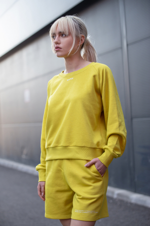 Set Elise Bluza si Pantalon Scurt Lime Green [8]