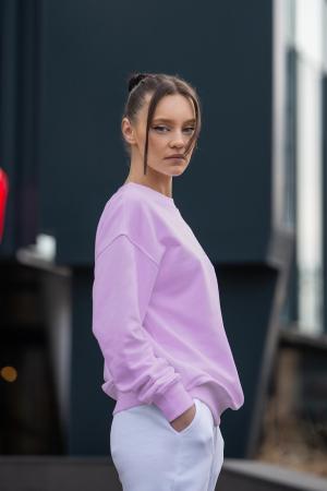 Set Easy-Fit bluza si pantalon Oversized Rose/Off White [1]