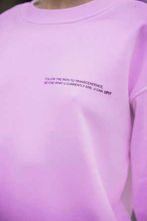 Set Easy-Fit bluza si pantalon Oversized Rose/Off White [6]