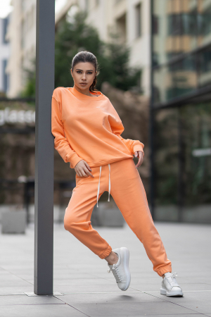 Set Easy-Fit bluza si pantalon Oversized Papaya [1]