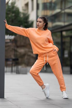 Set Easy-Fit bluza si pantalon Oversized Papaya [0]