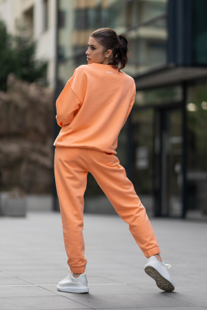 Set Easy-Fit bluza si pantalon Oversized Papaya [2]