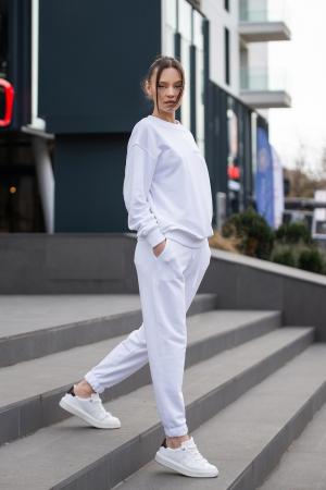 Set Easy-Fit bluza si pantalon Oversized Off White [1]