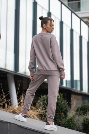 Set bluza si pantalon Oversized Easy-Fit Warm Taupe [3]