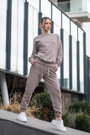 Set bluza si pantalon Oversized Easy-Fit Warm Taupe [1]
