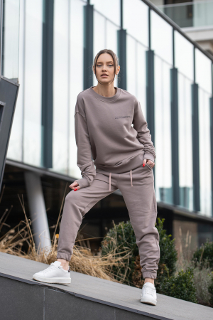 Bluza Easy-Fit Oversized Warm Taupe [6]
