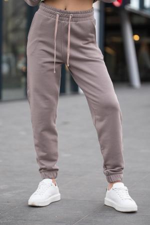 Set bluza si pantalon Oversized Easy-Fit Warm Taupe [7]