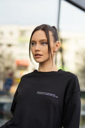 Set bluza si pantalon Oversized Easy-Fit Black [8]