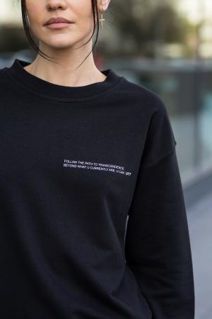 Set bluza si pantalon Oversized Easy-Fit Black [7]