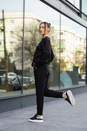 Set bluza si pantalon Oversized Easy-Fit Black [2]