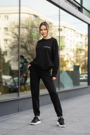 Set bluza si pantalon Oversized Easy-Fit Black [1]