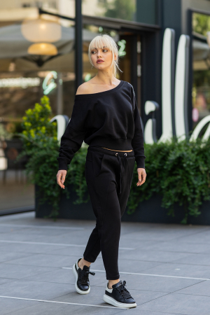 Set Unbroken II bluza si pantalon Black [2]