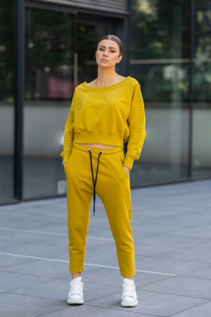 Set Unbroken II bluza si pantalon Mustard [0]