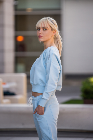 Set Unbroken II bluza si pantalon Sky Blue [2]