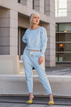 Set Unbroken II bluza si pantalon Sky Blue [7]
