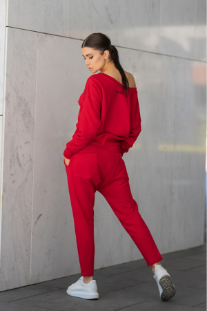 Set Unbroken II bluza si pantalon True Red [5]