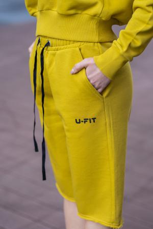 Set Undone Bluza si Pantalon Scurt Mustard Yellow [7]