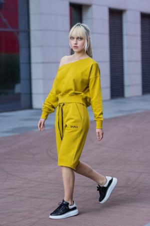 Set Undone Bluza si Pantalon Scurt Mustard Yellow [1]