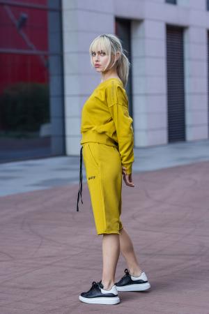 Set Undone Bluza si Pantalon Scurt Mustard Yellow [3]