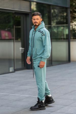 Set Cotton California hanorac si pantalon Dusty Turquoise [5]