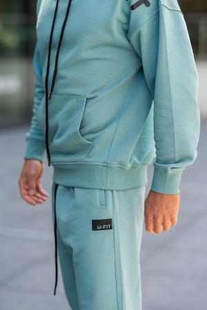 Set Cotton California hanorac si pantalon Dusty Turquoise [9]