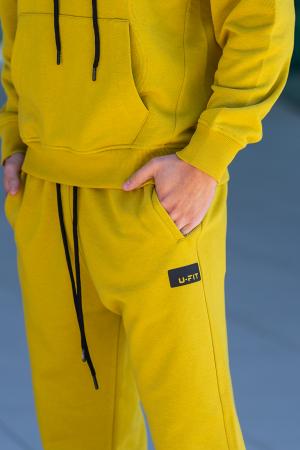 Set Cotton California hanorac si pantalon Mustard [6]