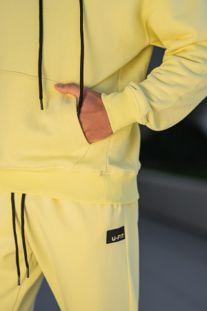 Set Cotton California hanorac si pantalon Yellow [9]