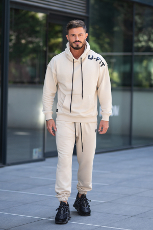 Set Cotton California hanorac si pantalon Light Beige [3]