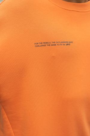 Set West Cartel Bluza Oversized si Pantalon lejer Orange/Navy [8]