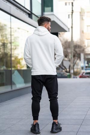 Set Easy-Fit hanorac imprimat si pantalon conic White/Black [3]