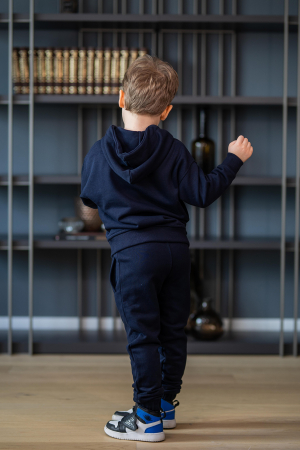 Set Easy-Fit Kids hanorac imprimat si pantalon Navy [4]
